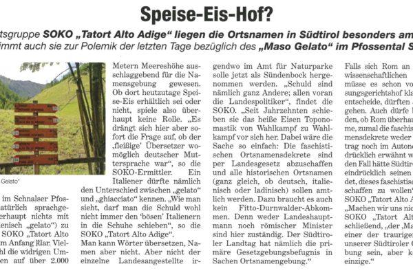 Tageszeitung - Maso Gelato