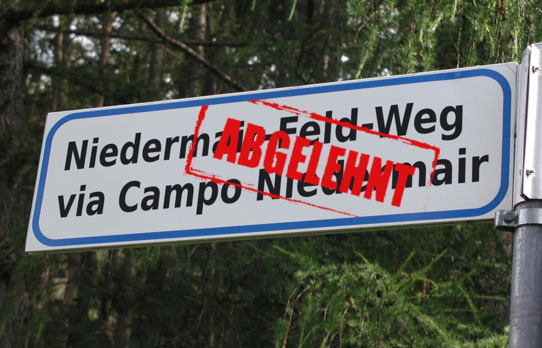Landestoponomastikgesetz greift: neue Italianisierung durch Brunecker Gemeindeausschuss genehmigt