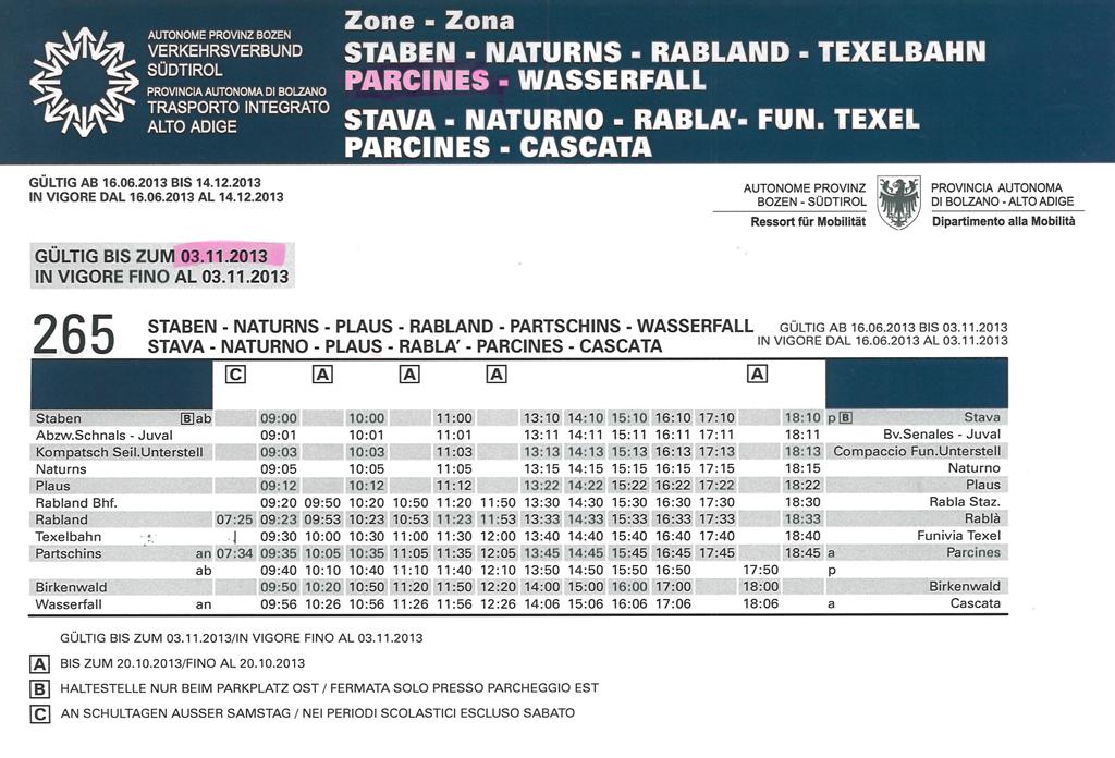 2013 08 02 Busfahrplan Linie 2651