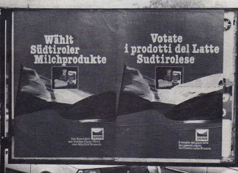 Wird das Unrecht zur Selbstverständlichkeit? Latte Sudtirolese oder Latte Alto Adige?