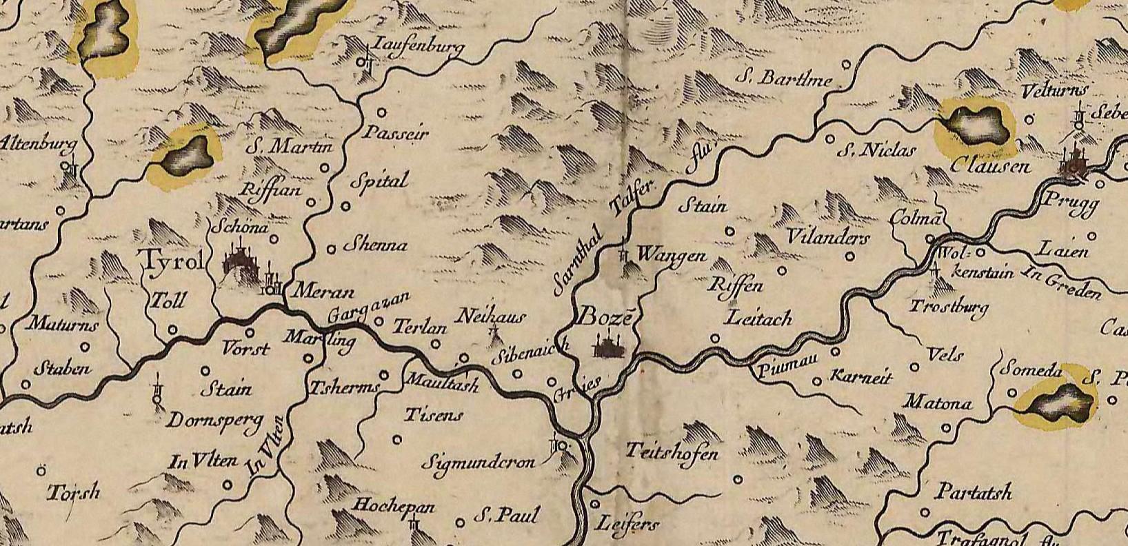 Historisch mehrsprachige geografische Namen in Südtirol